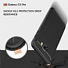 Eiroo Carbon Shield Samsung Galaxy C5 Pro Ultra Koruma Dark Silver Kılıf - Resim 4