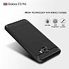 Eiroo Carbon Shield Samsung Galaxy C5 Pro Ultra Koruma Dark Silver Kılıf - Resim 2