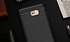 Eiroo Carbon Shield Samsung Galaxy C9 Pro Ultra Koruma Siyah Kılıf - Resim 2