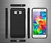 Eiroo Carbon Shield Samsung Galaxy Grand Prime / Prime Plus Ultra Koruma Dark Silver Kılıf - Resim 7