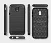 Eiroo Carbon Shield Samsung Galaxy J3 2017 Ultra Koruma Lacivert Kılıf - Resim 5