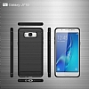 Eiroo Carbon Shield Samsung Galaxy J7 2016 Ultra Koruma Dark Silver Kılıf - Resim 4
