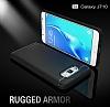 Eiroo Carbon Shield Samsung Galaxy J7 2016 Ultra Koruma Dark Silver Kılıf - Resim 6