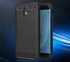 Eiroo Carbon Shield Samsung Galaxy J7 Pro 2017 Ultra Koruma Dark Silver Kılıf - Resim 4