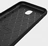 Eiroo Carbon Shield Samsung Galaxy J7 Pro 2017 Ultra Koruma Dark Silver Kılıf - Resim 1