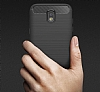 Eiroo Carbon Shield Samsung Galaxy J7 Pro 2017 Ultra Koruma Dark Silver Kılıf - Resim 8