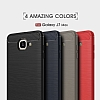 Eiroo Carbon Shield Samsung Galaxy J7 Max Ultra Koruma Dark Silver Kılıf - Resim 9