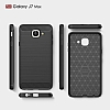 Eiroo Carbon Shield Samsung Galaxy J7 Max Ultra Koruma Dark Silver Kılıf - Resim 7