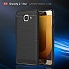 Eiroo Carbon Shield Samsung Galaxy J7 Max Ultra Koruma Dark Silver Kılıf - Resim 5