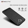 Eiroo Carbon Shield Samsung Galaxy J7 Max Ultra Koruma Dark Silver Kılıf - Resim 2