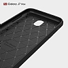 Eiroo Carbon Shield Samsung Galaxy J7 Max Ultra Koruma Dark Silver Kılıf - Resim 1