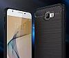 Eiroo Carbon Shield Samsung Galaxy J7 Prime Ultra Koruma Dark Silver Kılıf - Resim 4