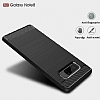 Eiroo Carbon Shield Samsung Galaxy Note 8 Ultra Koruma Dark Silver Kılıf - Resim 2