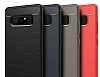 Eiroo Carbon Shield Samsung Galaxy Note 8 Ultra Koruma Dark Silver Kılıf - Resim 4