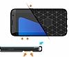 Eiroo Carbon Shield Samsung Galaxy S7 edge Ultra Koruma Dark Silver Kılıf - Resim 6