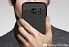 Eiroo Carbon Shield Samsung Galaxy S7 edge Ultra Koruma Dark Silver Kılıf - Resim 7