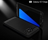 Eiroo Carbon Shield Samsung Galaxy S7 edge Ultra Koruma Dark Silver Kılıf - Resim 1