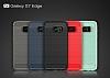 Eiroo Carbon Shield Samsung Galaxy S7 edge Ultra Koruma Dark Silver Kılıf - Resim 8