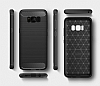 Eiroo Carbon Shield Samsung Galaxy S8 Plus Ultra Koruma Dark Silver Kılıf - Resim 6