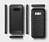 Eiroo Carbon Shield Samsung Galaxy S8 Ultra Koruma Dark Silver Kılıf - Resim 6