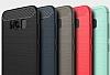 Eiroo Carbon Shield Samsung Galaxy S8 Ultra Koruma Dark Silver Kılıf - Resim 7