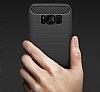 Eiroo Carbon Shield Samsung Galaxy S8 Ultra Koruma Dark Silver Kılıf - Resim 2