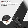Eiroo Carbon Shield Samsung Galaxy S8 Ultra Koruma Dark Silver Kılıf - Resim 5
