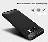 Eiroo Carbon Shield Samsung Galaxy S8 Ultra Koruma Dark Silver Kılıf - Resim 4