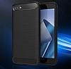 Eiroo Carbon Shield Asus Zenfone 4 Max ZC554KL Ultra Koruma Lacivert Kılıf - Resim 1