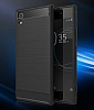 Eiroo Carbon Shield Sony Xperia XA1 Süper Koruma Siyah Kılıf - Resim 4