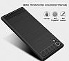 Eiroo Carbon Shield Sony Xperia XA1 Ultra Süper Koruma Dark Silver Kılıf - Resim 3