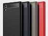 Eiroo Carbon Shield Sony Xperia XA1 Ultra Süper Koruma Dark Silver Kılıf - Resim 9