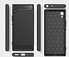 Eiroo Carbon Shield Sony Xperia XA1 Ultra Süper Koruma Dark Silver Kılıf - Resim 5