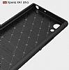 Eiroo Carbon Shield Sony Xperia XA1 Ultra Süper Koruma Dark Silver Kılıf - Resim 1