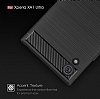 Eiroo Carbon Shield Sony Xperia XA1 Ultra Süper Koruma Dark Silver Kılıf - Resim 7