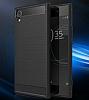 Eiroo Carbon Shield Sony Xperia XA1 Ultra Süper Koruma Siyah Kılıf - Resim 6