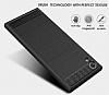 Eiroo Carbon Shield Sony Xperia XA1 Ultra Süper Koruma Siyah Kılıf - Resim 2