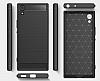 Eiroo Carbon Shield Sony Xperia XA1 Ultra Süper Koruma Siyah Kılıf - Resim 8