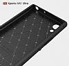 Eiroo Carbon Shield Sony Xperia XA1 Ultra Süper Koruma Siyah Kılıf - Resim 1