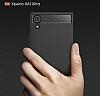 Eiroo Carbon Shield Sony Xperia XA1 Ultra Süper Koruma Siyah Kılıf - Resim 5