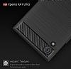 Eiroo Carbon Shield Sony Xperia XA1 Ultra Süper Koruma Siyah Kılıf - Resim 4