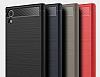 Eiroo Carbon Shield Sony Xperia XA1 Ultra Süper Koruma Siyah Kılıf - Resim 10
