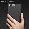 Eiroo Carbon Shield Sony Xperia XZ Premium Ultra Koruma Siyah Kılıf - Resim 2