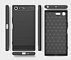 Eiroo Carbon Shield Sony Xperia XZ Premium Ultra Koruma Siyah Kılıf - Resim 5