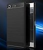 Eiroo Carbon Shield Sony Xperia XZ Premium Ultra Koruma Siyah Kılıf - Resim 4