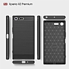 Eiroo Carbon Shield Sony Xperia XZ Premium Ultra Koruma Lacivert Kılıf - Resim 3