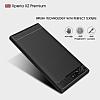 Eiroo Carbon Shield Sony Xperia XZ Premium Ultra Koruma Dark Silver Kılıf - Resim 1