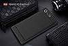 Eiroo Carbon Shield Sony Xperia XZ Premium Ultra Koruma Lacivert Kılıf - Resim 5