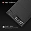 Eiroo Carbon Shield Sony Xperia XZ Premium Ultra Koruma Dark Silver Kılıf - Resim 4