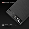 Eiroo Carbon Shield Sony Xperia XZ Premium Ultra Koruma Lacivert Kılıf - Resim 4